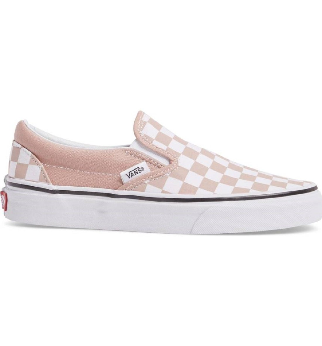 Vans Unisex Checkerboard Slip-On Mahogany Rose True White Sneaker - 5.5 by Vans
