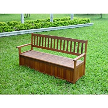 Strange 3 Seater Hardwood Storage Garden Bench Amazon Co Uk Garden Lamtechconsult Wood Chair Design Ideas Lamtechconsultcom