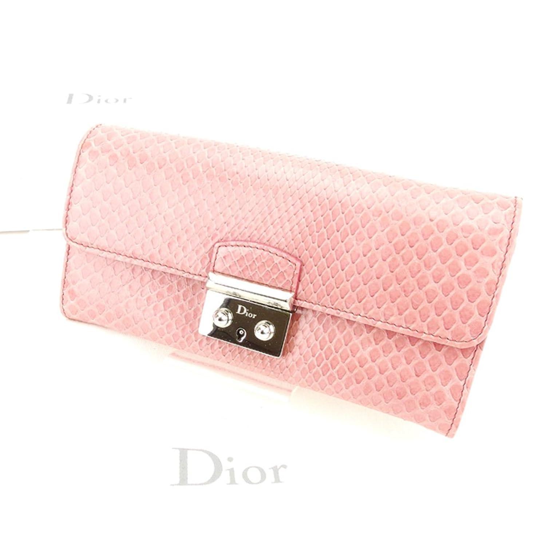 [ディオール] Dior 長財布 ファスナー付き 長財布 レディース パイソン調 中古 T6186 B079S2JHR9