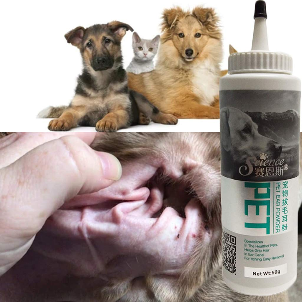 Pet Ear Powder for Dogs and Cats Pet Ear Health Care Easy to Remove Ear Hair