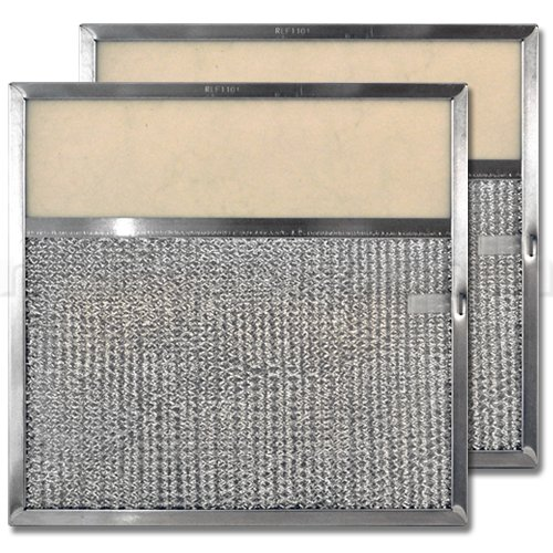 Aluminum Range Hood Filter with Light Lens - 11'' X 11-11/32'' X 3/8''