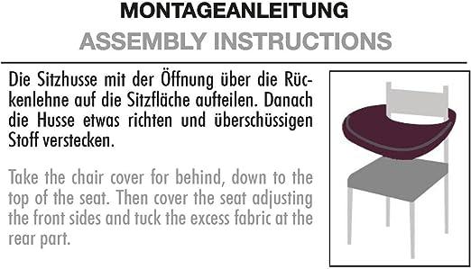 Lea Jacquard Sitzbezug Stretch Sitzabdeckung elastisch Schutz Husse Spannbezug