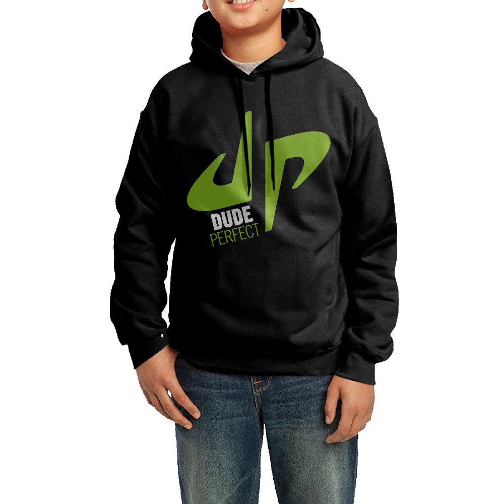 Youth's YouTube Dude Perfect Trick Shots DP Logo 100% Cotton Hood