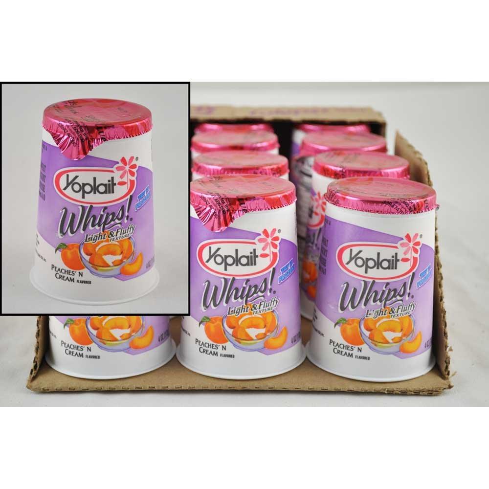 Amazon.com: Yoplait Whips Peaches N Cream Yogurt, 4 Ounce ...