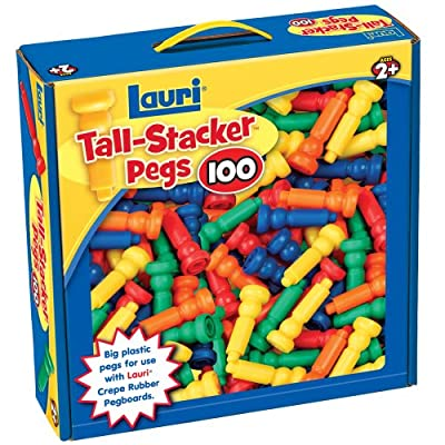 Lauri Toys Tall-stacker Pegs 100 by Patch Products