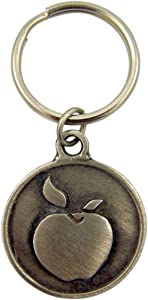 Fine Pewter Teacher's Prayer Apple Auto Car Key Chain, 1 1/2 Inch