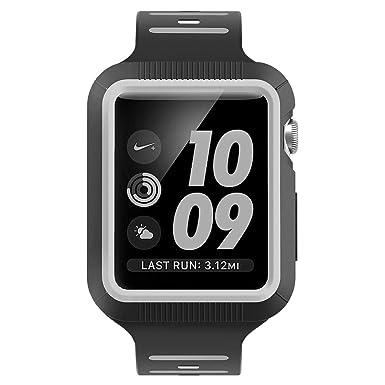 BRG Apple Watch caso con banda, A prueba de golpes carcasa con silicona deporte iwatch