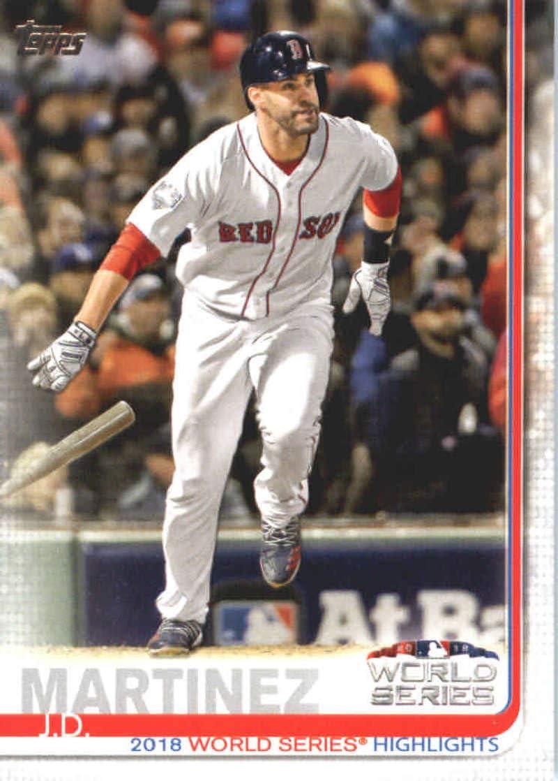 2019 Topps #76 J.D. Martinez Boston Red Sox Series 1 MLB Baseball Trading Card