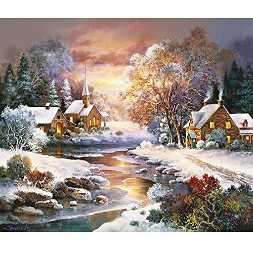 Cool Jynxos Paint By Numbers 16X20 For Adults Kids Snowy Town Interior Design Ideas Skatsoteloinfo