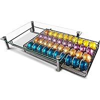 RECAPS Coffee Pod Kitchen Organizer Storage Holder Drawer Compatible with Vertuoline Tempered Glass Drawer Stores 40…