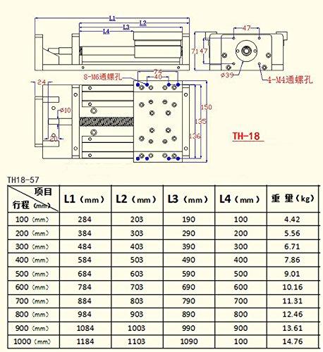 SBR Rails Precision Cross Slide 1605 CNC Ballscrew Linear Slide 100mm-1000mm Linear Stage Slide Module for CNC Router X Y Z Aixs (1000mm)