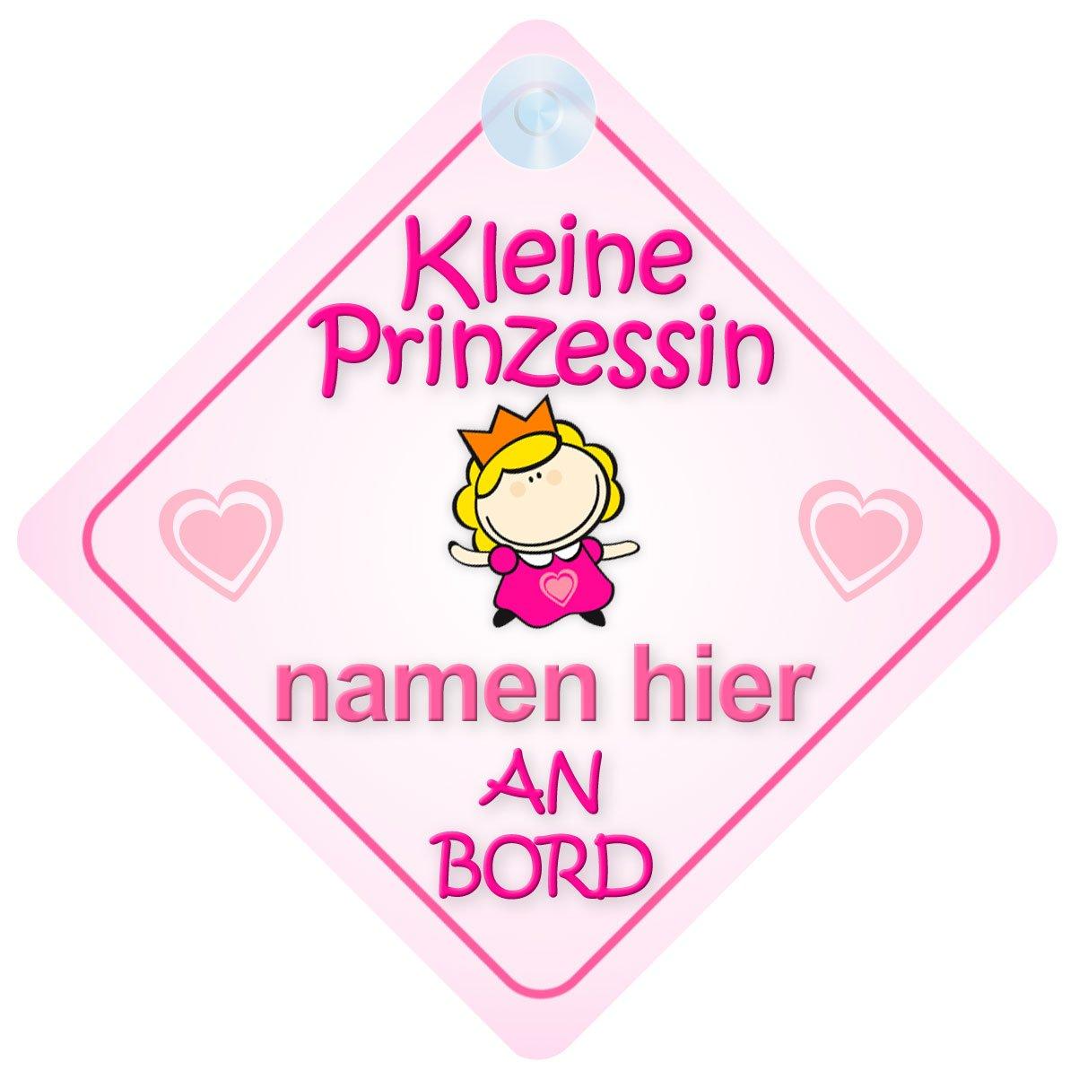 Kleine Prinzessin An Bord Personalisierte Autokennzeichen Neues Baby Mä dchen / Kind Geschenk / Prä sentieren / Baby on Board / Autoschild mybabyonboard