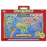 T.S. Shure World Map Magnetic Play Board Puzzle