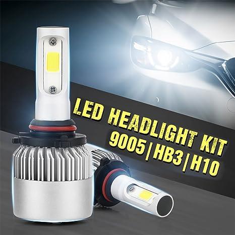 Led Auto Lights >> Ronshin Led Lights Pack Of 2 Cob Led Auto Car Headlight 40w