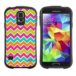 LASTONE PHONE CASE / Suave Silicona Caso Carcasa de Caucho Funda para Samsung Galaxy S5 SM-G900 / Lines Cute Nice Sweet