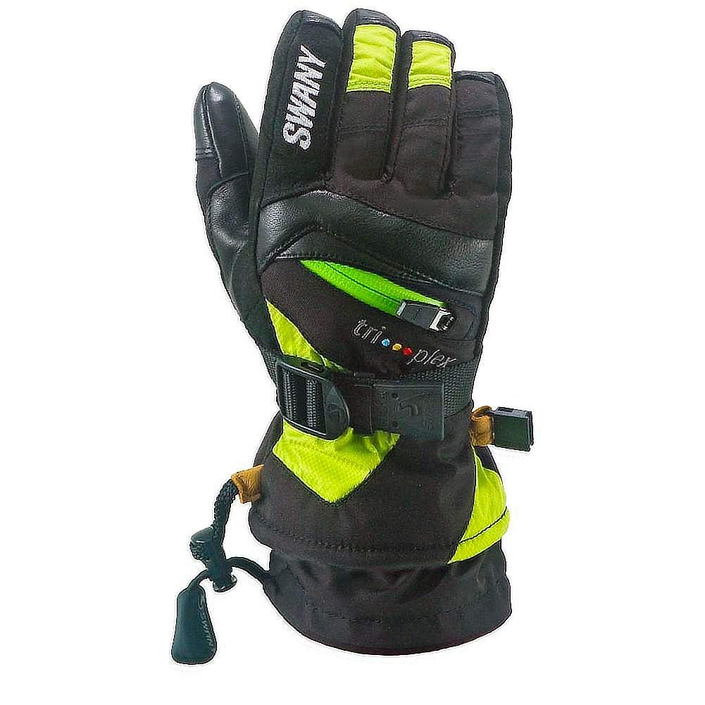 Swany X-Change Junior Gloves, Black/Lime, Large