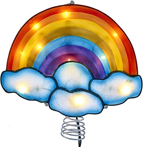 Kurt Adler Kurt S Multi Adler 10-Light Rainbow Treetop