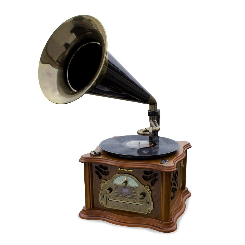 Soundmaster NR916 gramófono, Radio FM Nostalgia, Bluetooth
