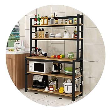 nueva una gran variedad de modelos captura Estante Para Horno De Microondas De Cocina, Estante De ...