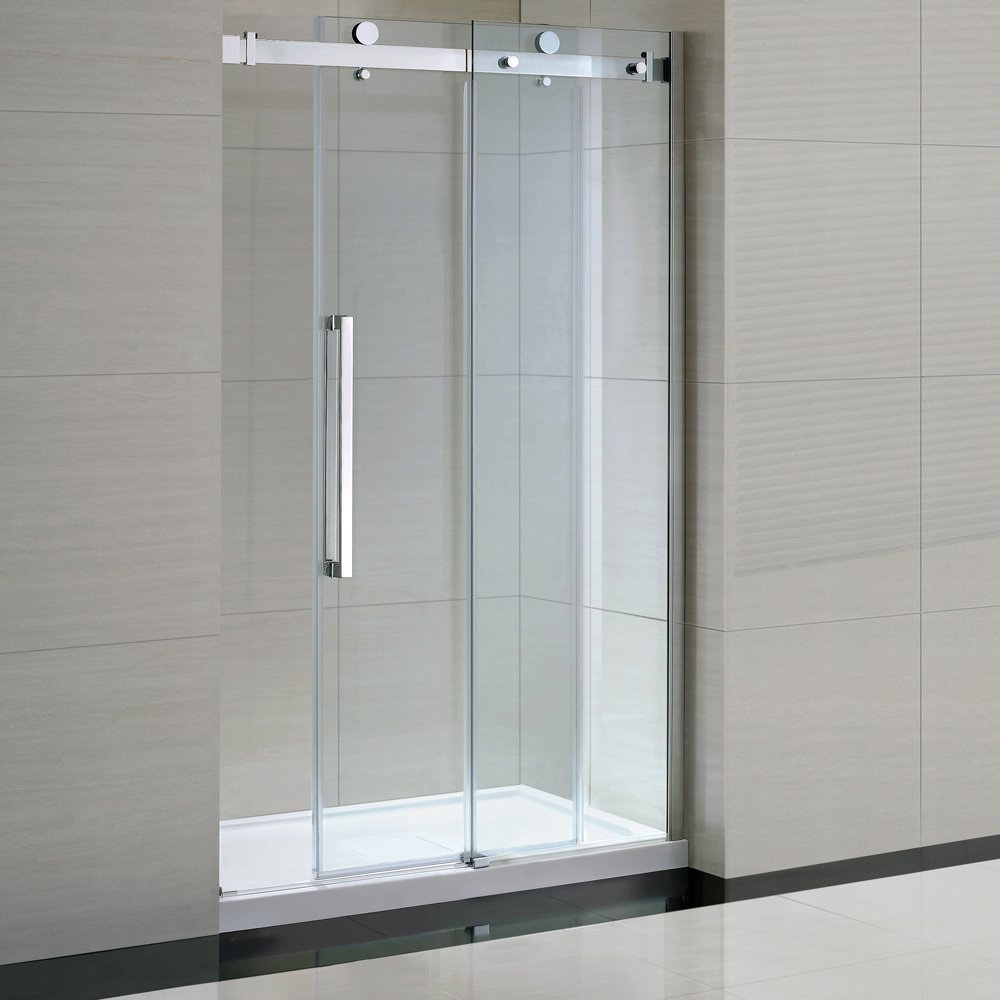 Ove decors sierra tempered clear glass shower kit with glass ove decors sierra tempered clear glass shower kit with glass panels and base 48 amazon planetlyrics Gallery