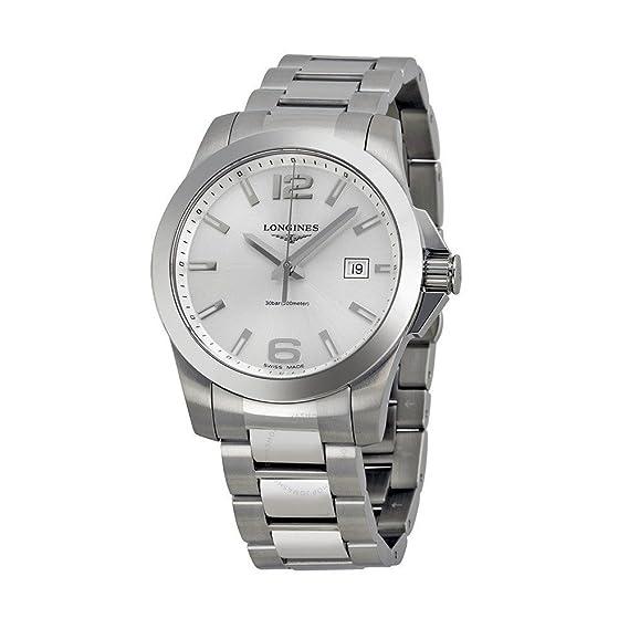 Longines L36594766 - Reloj de cuarzo para hombre, con correa de acero inoxidable, color