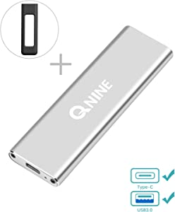 QNINE 1 TB External SSD (Protective Case Included), Portable SSD USB C for MacBook, USB 3.1 High Speed External SSD for Laptop, Xbox One X, etc