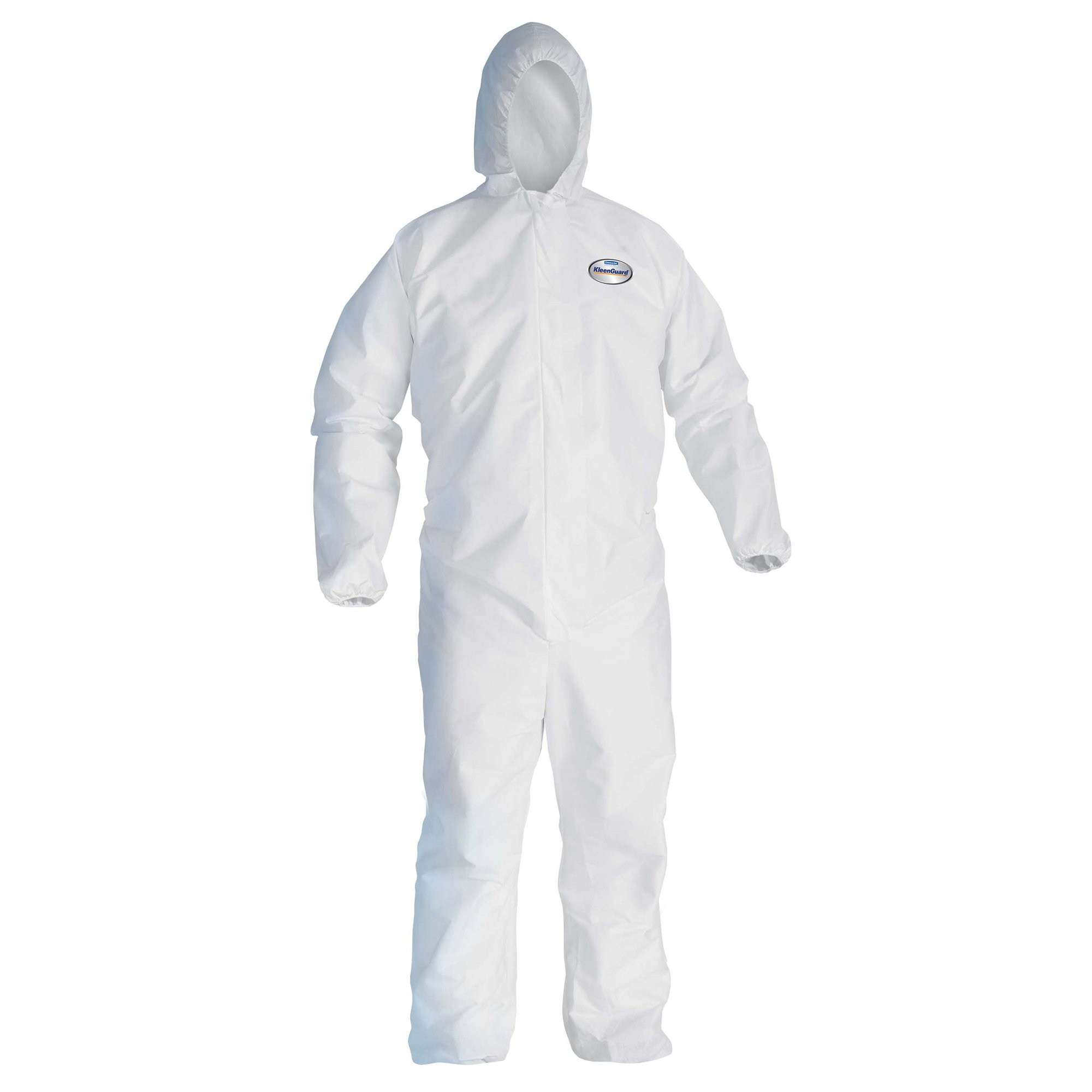 Kleenguard A30 Breathable Splash and Particle Protection Coveralls (46115), REFLEX Design, Hood, Zip Front, Elastic Wrists & Ankles (EWA), White, 2XL, 25 / Case by Kimberly-Clark Professional