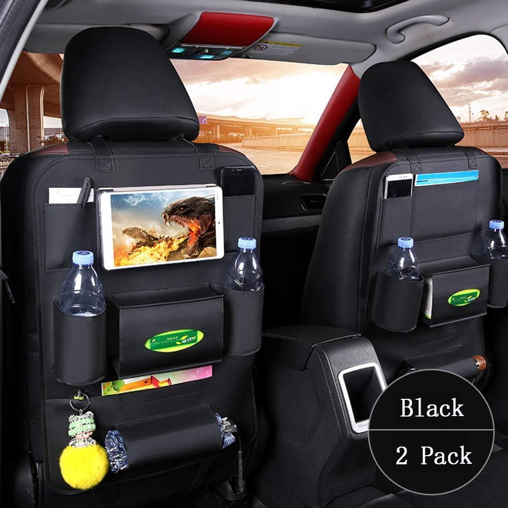 Titular de ipad y Multiple Pockets para Taza Aperitivos Juguetes Paraguas c+c 2 Pack Organizador del asiento trasero de coche Protector para Ni/ños Impermeable Bolsa de Almacenamiento Viaje