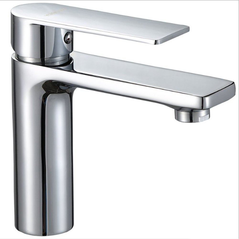 FANGYUN Wasserhahn, Einlochmontage Heiß und Kalt Grünikale Badezimmer Waschbecken Wasserhahn Einzigen Griff Waschbecken Mixer