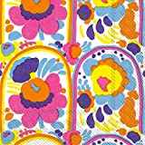 Ideal Home Range C606290 Marimekko 20 Count Paper Cocktail Napkins, Karuselli White