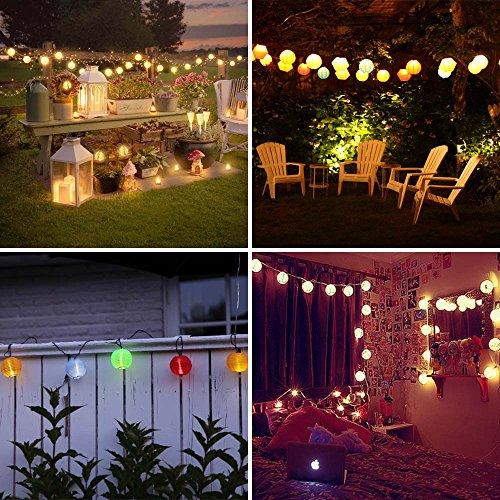 Luckled Outdoor Fairy Lantern Solar String Lights
