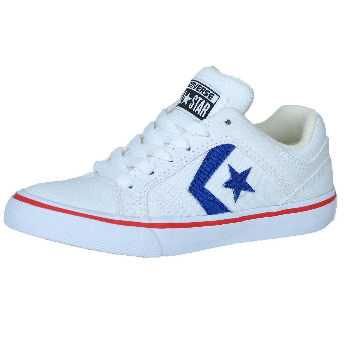 Converse Kinder Freizeitschuh Gatex OX Sneaker, Schuhgröße:33, Farbe:White