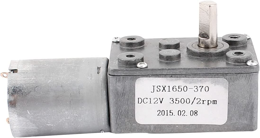 uxcell DC 12V 2RPM 6mm Shaft High Torque Worm Gear Box Reduction Motor