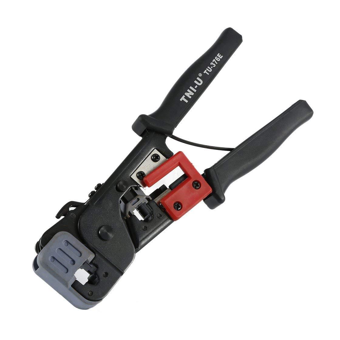 TU-376E herramienta de prensado de telecomunicaciones modular cable de red trinquete que prensa alicates pelacables herramientas para 4P 6P 8P RJ-11 / RJ-12 RJ-45 Laurelmartina