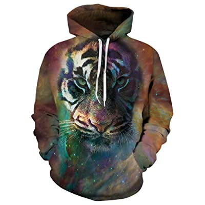 9Yourtime Your Love Space Galaxy Tiger Face Print Hoodie Harajuku Sweatshirt Tracksuit