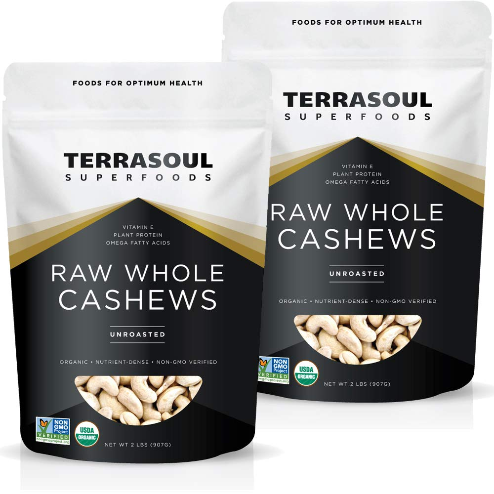 Terrasoul Superfoods Organic Raw Whole Cashews