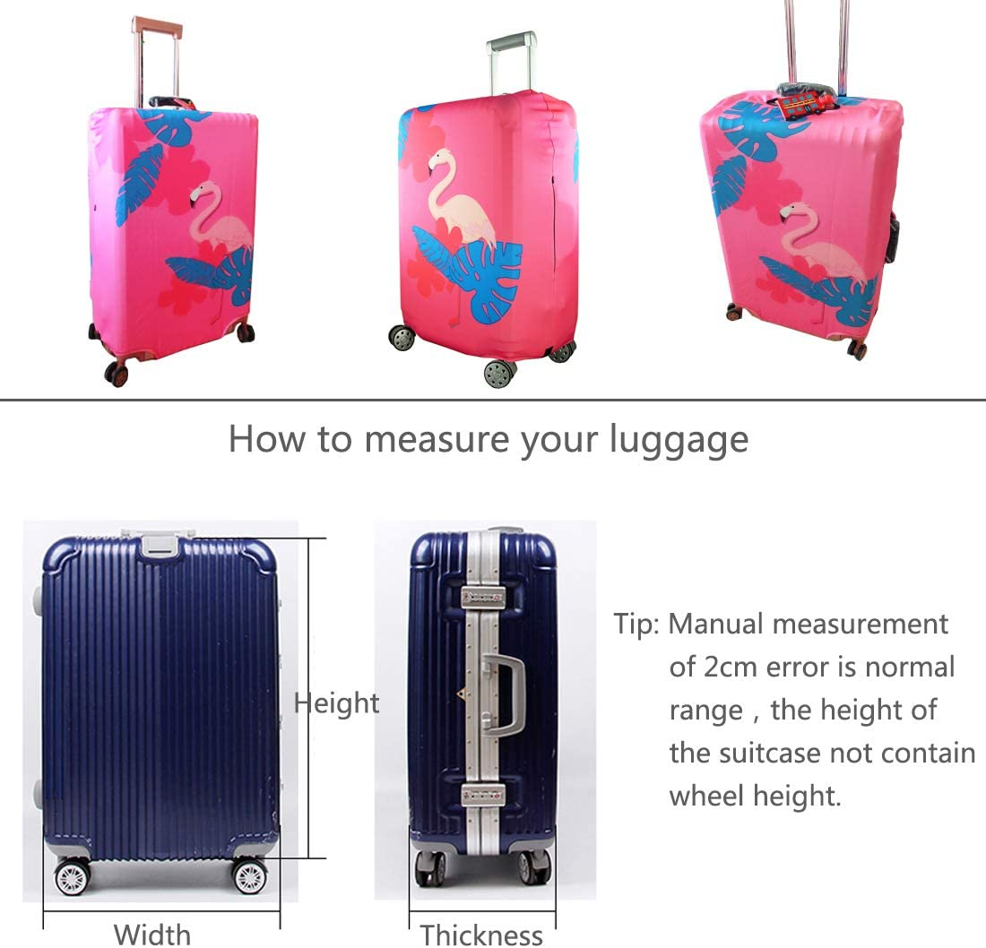LEISISI Holstein Cows Luggage Cover Elastic Protector Fits XL 29-32 in Suitcase