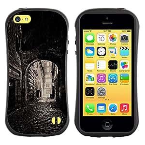 LASTONE PHONE CASE / Suave Silicona Caso Carcasa de Caucho Funda para Apple Iphone 5C / Street Old Town Medieval