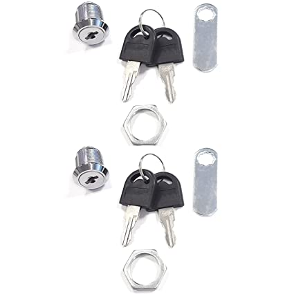 com-four® 2X Mailbox Lock Furniture Lock Cerraduras de buzón, 16 mm de