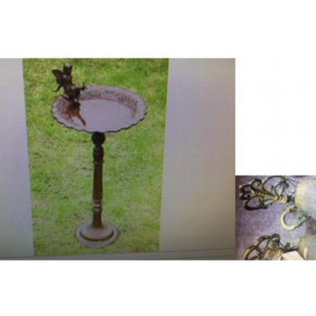 Vogeltränke mit Ständer grün-antik Gartendeko Schalenständer Vogelbad (1005790) Boltze