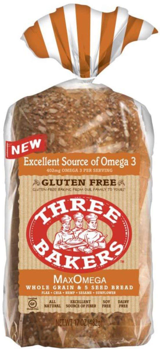 Three Bakers Max Omega - Juego de pan de 5 semillas: Amazon ...