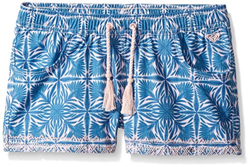 Roxy Girls' Big Sunny Dreams Rg Boardshort, Rose Quartz Havana Tile, 10/M -