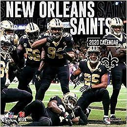 Calendar Of Saints 2020 New Orleans Saints 2020 Calendar: Inc. Lang Companies