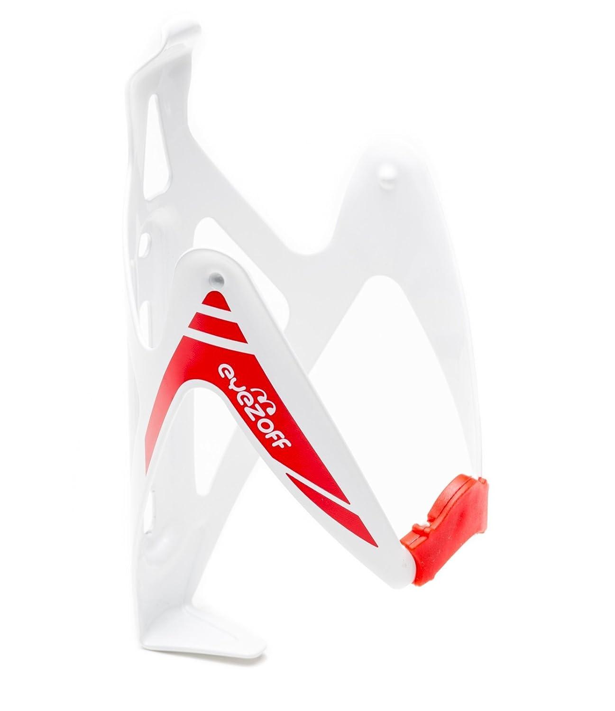EyezOff Burst Ultra Lightweight Aluminum Bottle Cage - White/Red Edition by EyezOff   B0161OJYCS