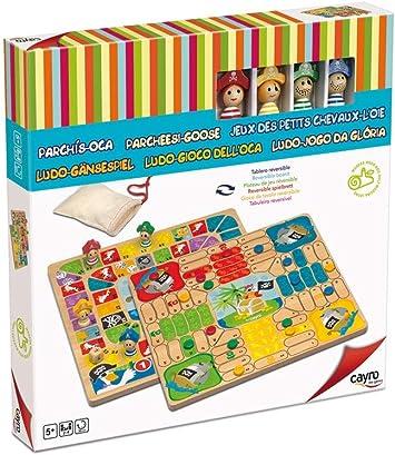 Cayro -Parchís y oca Pirata.- Juego de Mesa Infantil - parchís Infantil - Juego de cooperación Desarrollo de Habilidades visuales y lógico-matemáticas - Juego de Mesa (843): Amazon.es: Juguetes y juegos