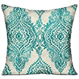 Vintage Style Decorative Pattern 18x18 Inch Throw Pillow Standard Form Insert - Machine Washable