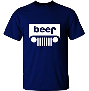 d564d7f16 Amazon.com: Jeep Grille beer shirt funny upturned off-road 4x4: Clothing