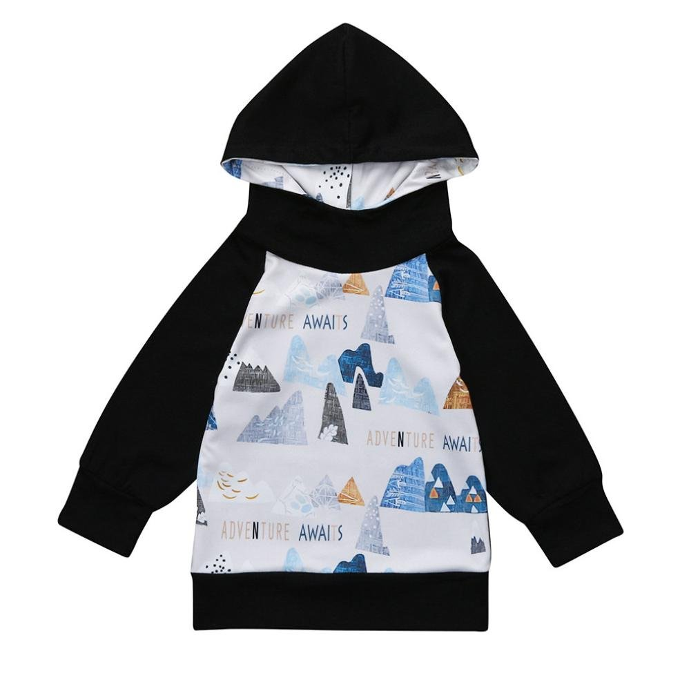 Lisin Children Kids Baby Girls Boys Hoodie Tops Letter Print Sweatshirt Coat Clothes