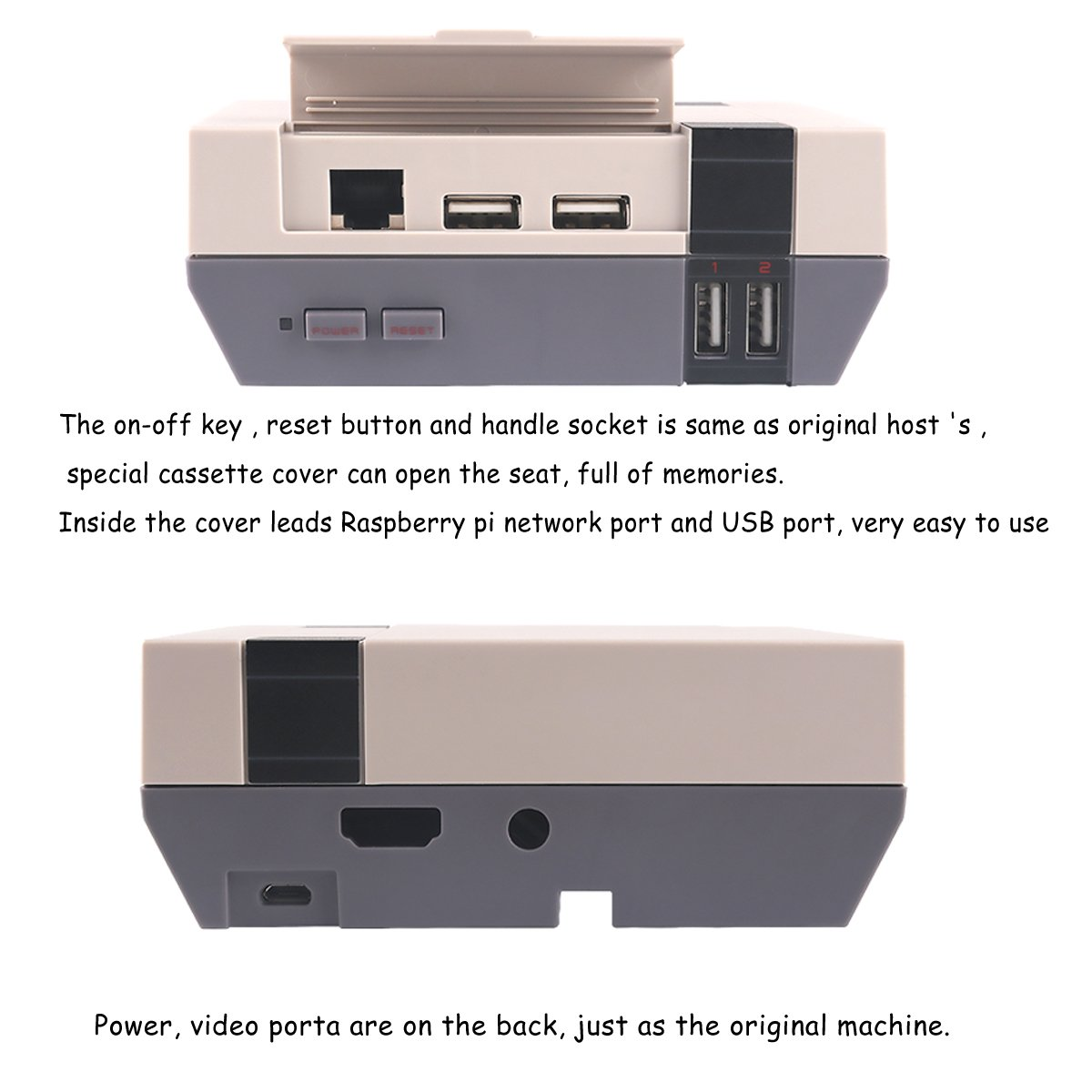 Makerfocus Nespi Case Retroflag Raspberry Pi Nes Power On Wiring 3 Fc Style With Cooling Fan And Screw Driver Enclosure Compatible