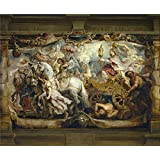 The Perfect effect canvas of oil painting 'Rubens Peter Paul Triunfo de la Iglesia 1625 26 ' ,size: 16 x 19 inch / 41 x 49 cm ,this Vivid Art Decorative Prints on Canvas is fit for Gym gallery art and Home artwork and Gifts